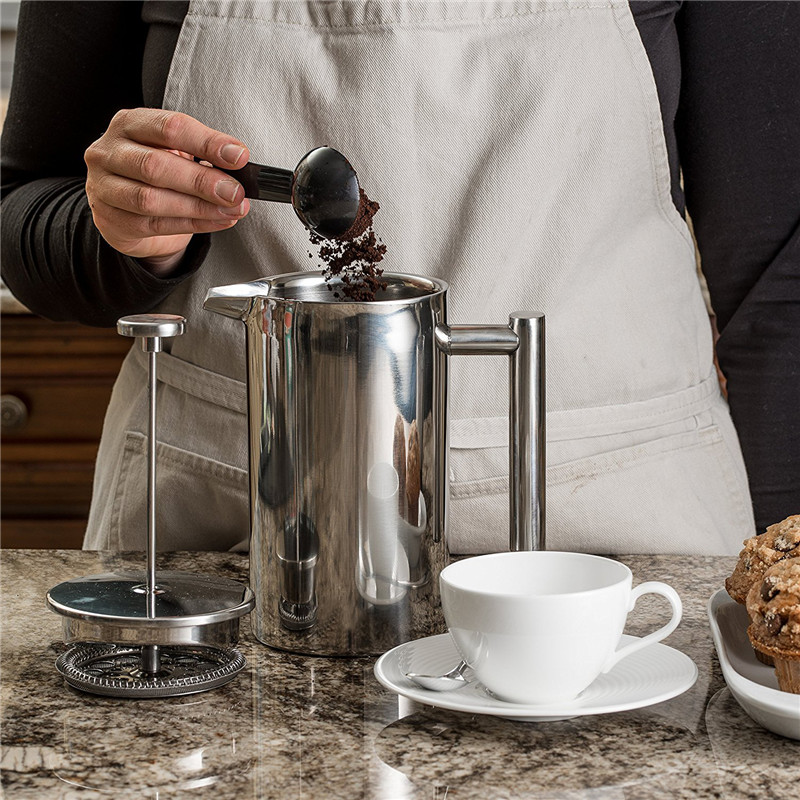 Stainless Steel Polished French Press 2