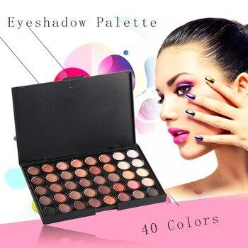 40 Colors Professional Makeup Palete Eye Shadows Shimmer Matte Luminous Waterproof Eyeshadow Palette Eye Cosmetic Make Up Tools Eyeshadow
