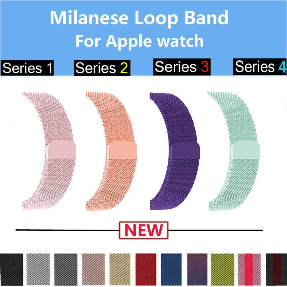 Lerxiuer Milanese Loop strap For Apple Watch band 44mm 40mm 42mm 38mm Iwatch 4/3/2/1 Stainless Steel Wrist link bracelet bands milanese loop strap stainless steel bracelet for apple watch series 4 40mm 44mm band wrist link belt for iwatch 1 2 3 42mm 38mm