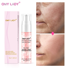 OMYLADY Silk Collagen Facial Essence Antii-Aging Wrinkles Repair Serum Treatment Acne Shrink Pores Firming Nourishing Skin Care