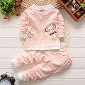 2016 Высокое Качество детская одежда 100% хлопок девочка одежды 5 цвета baby boy одежда новорожденного одежда enfant 2 шт./компл.