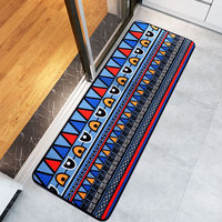 Door Mat Hall Bathroom Kitchen Home Rug Absorbent Non slip Coral Velvet Mats Carpet Strips tapeta