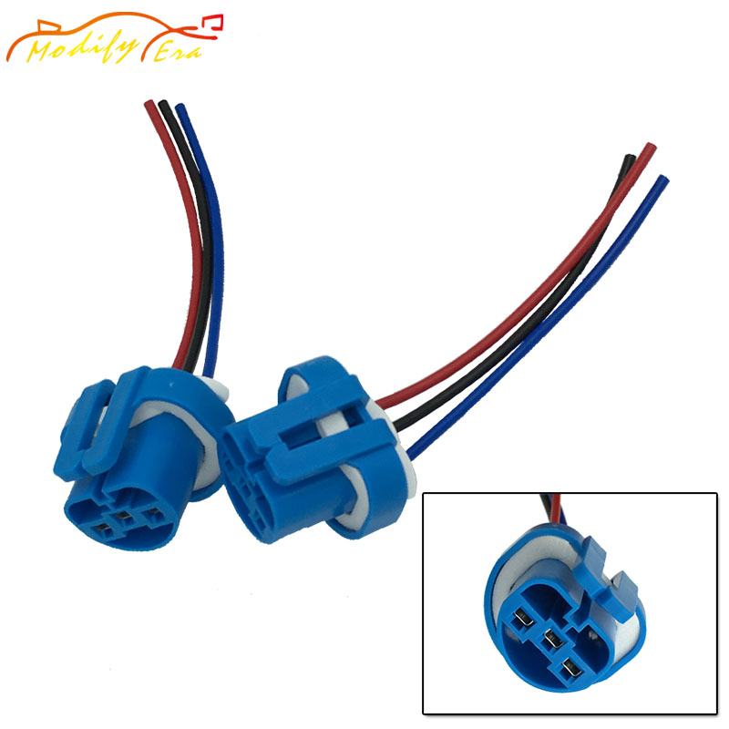Modify.Era 2pcs 9004 9007 HB2 HB5 Female Led Bulbs Lamp Sockets Adapter Connector Harness Wiring For Car Headlights Car Styling