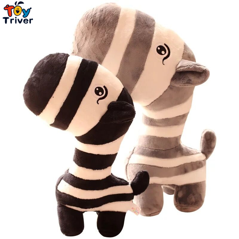 Kawaii Jungle Zebra Plush Toys Stuffed Animals Cartoon Zebras Baby Kids Children Birthday Gift Home Shop Decoration Triver in Stuffed Plush Animals from Toys Hobbies