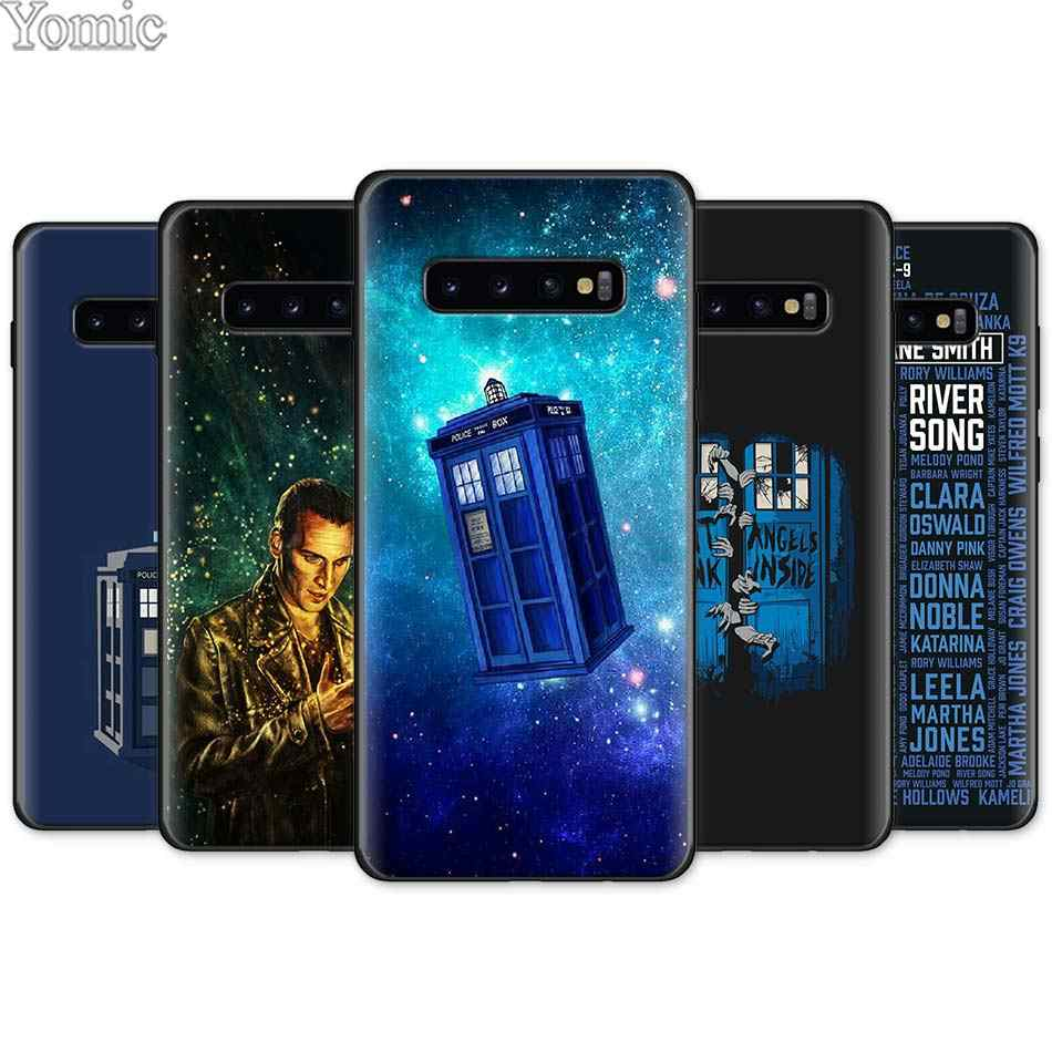 Box Doctor Who Black Silicone Case for Samsung Galaxy S10e S10 S8 S9 Plus S7 Note 8 9 A40 A50 A70 Soft TPU Phone Case Cover