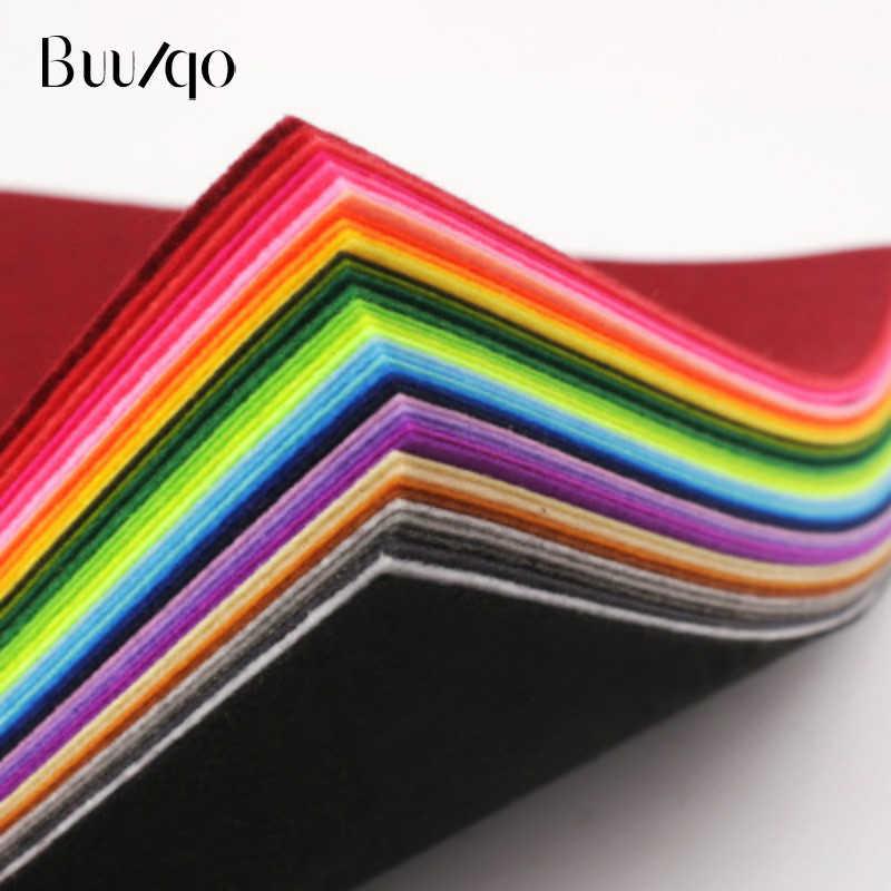 20 шт./Партия 15x15 см Смешанные цвета Нетканая войлочная ткань 1 мм Толщина полиэфирная войлочная ткань DIY комплект для материал для изготовления кукол