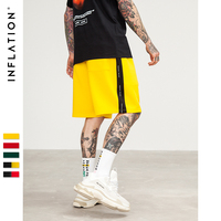 INFLATION 2018 New Arrivals Side Stripe Drawstring Shorts Mens Fashion Clothing Mens Short Sweatpants Streetwear 8408S