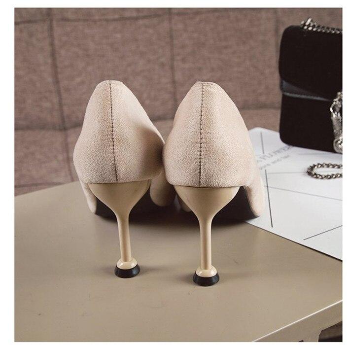 Bout Les noir Sur Pompes Talons Profonde Pour Femmes Filles Femme Chaussures Travail Mince Slip Beige rouge Pointu Hauts Professionnel De Ol Peu qRTwc7xF
