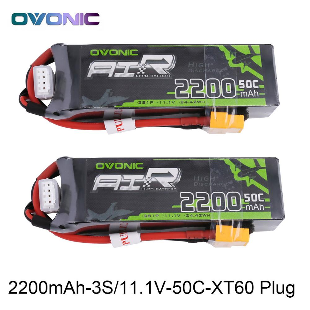 Ovonic 11.1V 2200mAh 50C LiPo 3S Battery Pack XT60 Plug for RC Boat Airplane Multi-motor Quad Heli Hobby Parts Free Shipping h energy 2200mah 7 4v 50c lipo battery