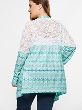 Crochet Tops Hollow Out Knitted Sweaters Cardigan XL-5XL