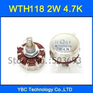 Бесплатная доставка 10 шт./лот WTH118 1A 2 Вт 4,7 K 4K7 вращающийся конический потенциометр WTH118-1A