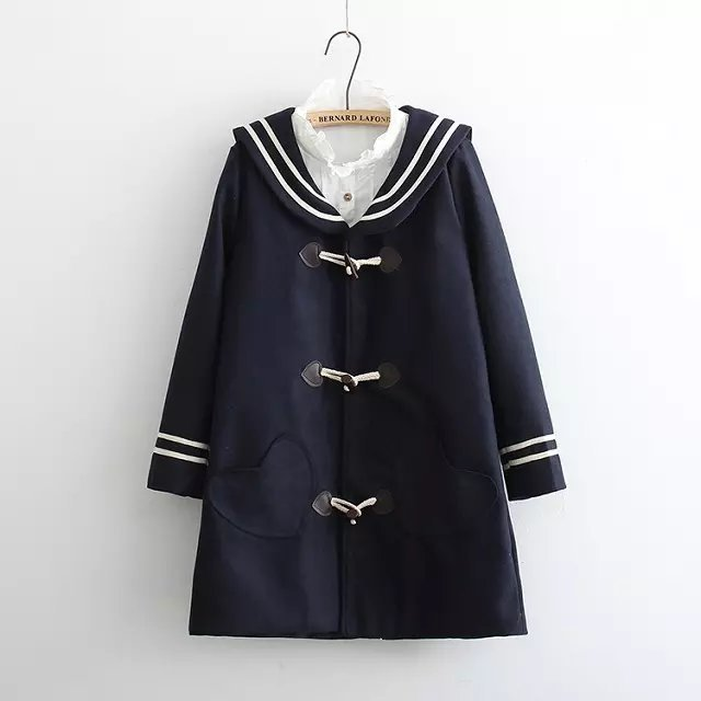 Popular Wool Sailor Coat-Buy Cheap Wool Sailor Coat lots from ...