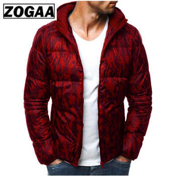 ZOGAA Winter Men Hooded Parkas Guys Boys Cotton Long Sleeve Thick Jackets Parkas Male Warm Padded Slim Fit Outerwear Coats 2019 цена 2017