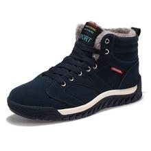 Fabrecandy Новый Мужские ботинки для Мужские зимние сапоги Обувь на теплом меху и плюшевые Кружева на шнуровке модные высокие Мужская обувь