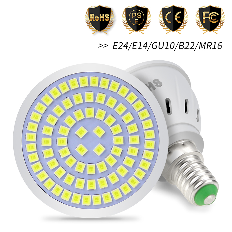 GU10 Spotlight MR16 Lamp 220V E14 LED Bulb E27 Corn Light 48 60 80 LEDs 3W Ampoule Gu 10 Led Spot Light Bulb 2835 B22 Bombilla
