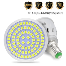 GU10 Spotlight MR16 Lamp 220V E14 LED Bulb E27 Corn Light 48 60 80 LEDs 3W Ampoule gu 10 led Spot 2835 B22 Bombilla