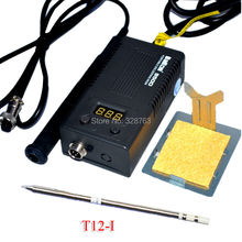 Оптовая ЕС plug BK 950D Портативный мини Цифровая паяльная станция Электрический утюг припоя + T12 советы Сердечник Топления 100 ~ 240 В
