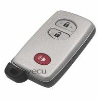 BRAND NEW Remote Key Shell Dla Toyota 4 Runner KEYECU Venza Case Fob 2 + 1 Przycisk Z Włóż Małą klucz Ostrze