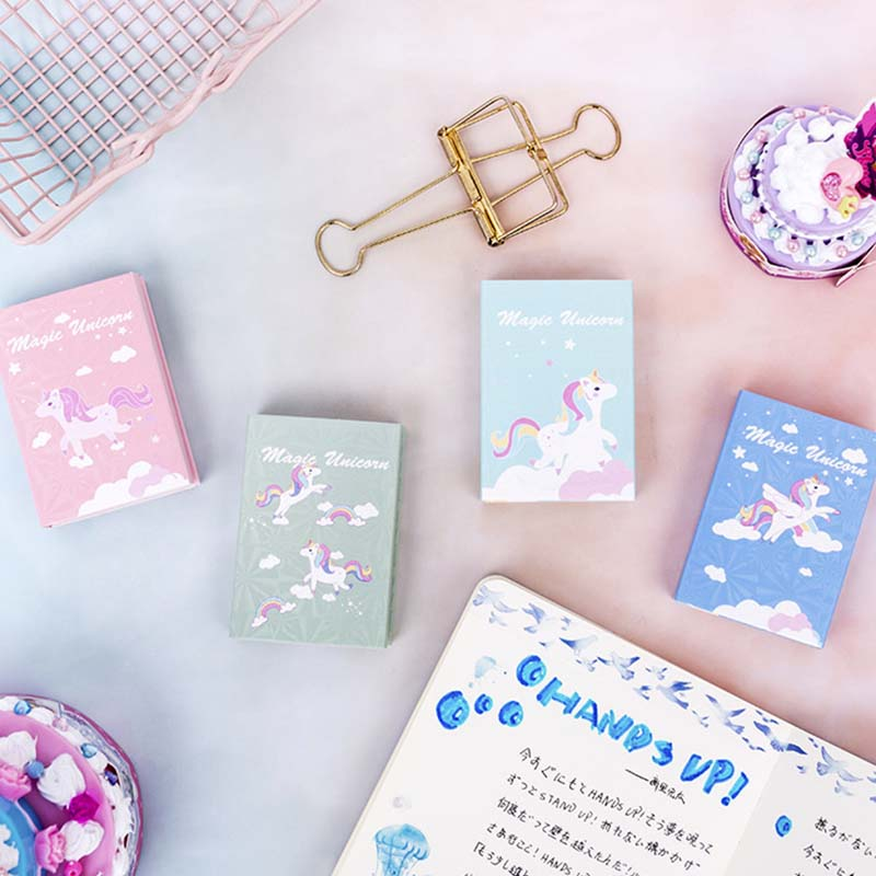 Unicorn 6 Folding Memo Pad Cartoon N Times Sticky Notes Notepad Bookmark Stationery Gift Notebook school supplies