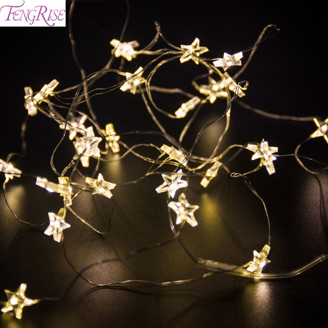 FENGRISE 2 m 3m Star Lights for Decoration Wedding Led Copper Wire ...
