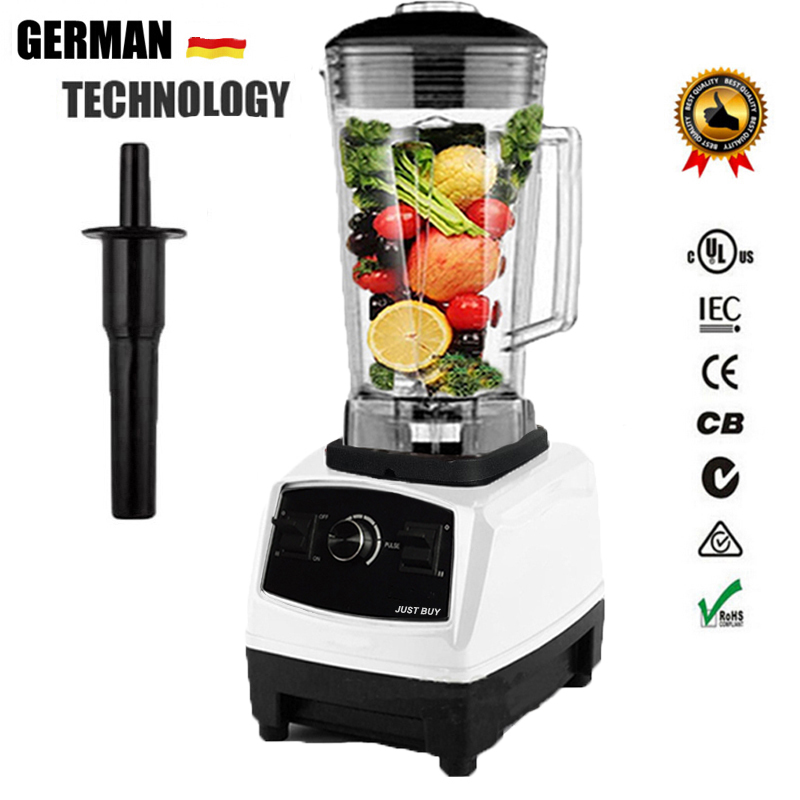 EU US Plug 6300 BPA Free 3HP 2200W Commercial Blender Mixer Juicer Power Food Processor Smoothie