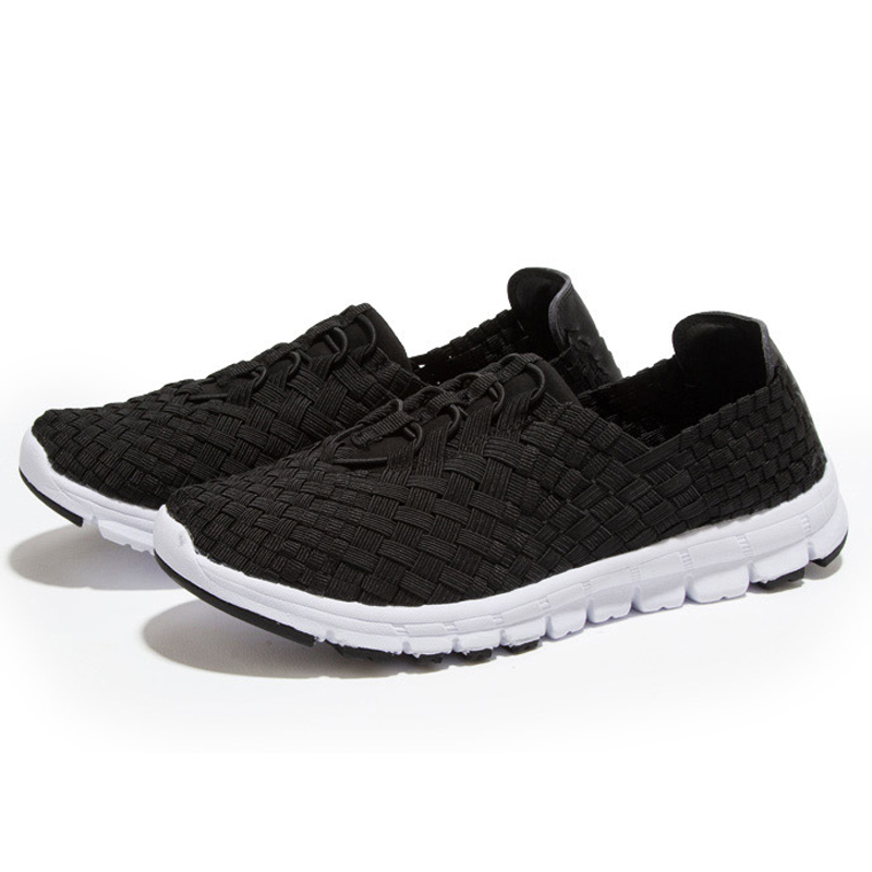 Nike Men's Women' Running Sneakers Shoes Breathable Lazy Shoes(Black)