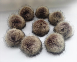 Image 4 - Wholesale 10pcs /lot Crinkle Resistant Faux Fur Pom pom For knitted Beanies Caps Hats Bags Key chain Garments Accessories Gift