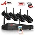 ANRAN Беспроводной CCTV Камера Системы H.265 5.0MP видеонаблюдение NVR Системы WI-FI Водонепроницаемый Ночное Видение безопасности Камера Системы