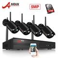 ANRAN Draadloze CCTV Camera Systeem H.265 5.0MP NVR Video Surveillance Systeem WIFI Waterdichte Nachtzicht Bewakingscamera
