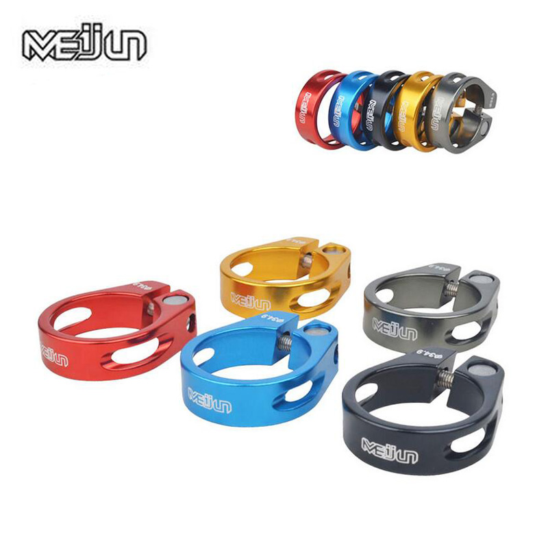 MEIJUN 34.9mm Ultralight Aluminum Alloy Mountain Bikes Folding Bicycles Seat Post Clamp For 30.4 30.8 31.6mm Seatpost Tube Clip