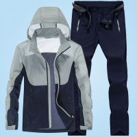 Fashion Winter Sporting Suit Men Set Hoodie + Pants Sportswear Sweatshirt Coat Tracksuit S Clothes 88251
