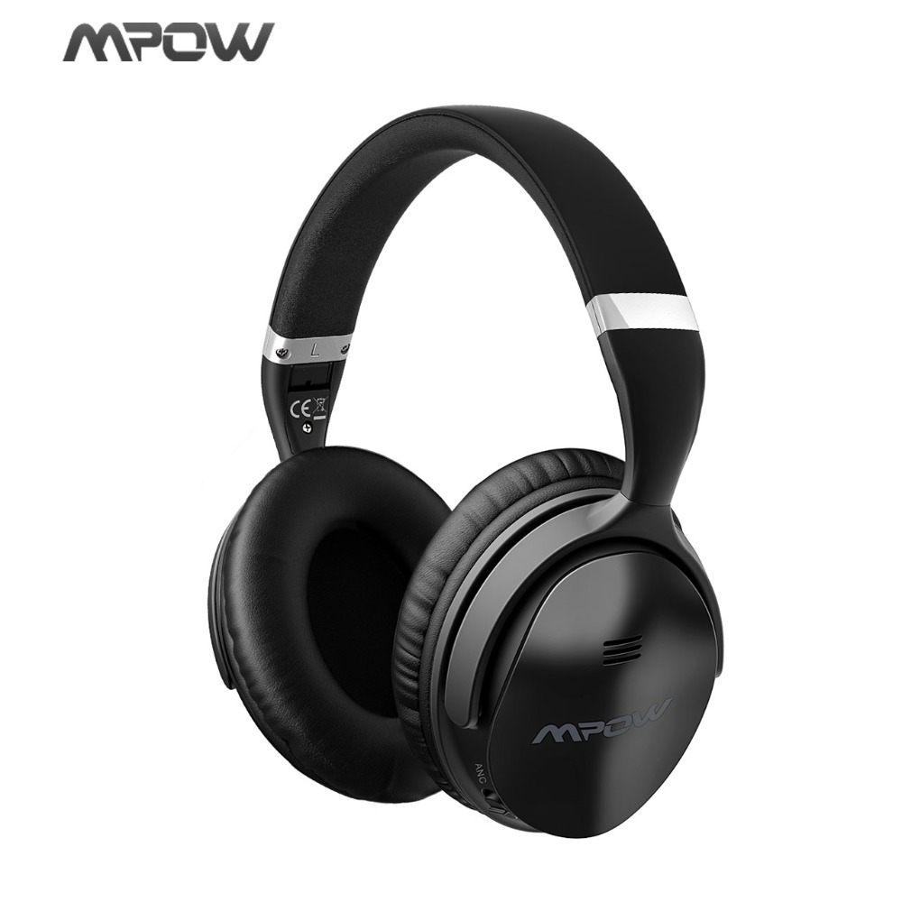 Mpow H5 Active Noise Cancelling Wireless Bluetooth Headphone& Over-ear Headset For iphone Android Cellphone with EVA Bag/Case anc wireless bluetooth headphones active noise cancelling folable headset with rotal design over ear headphone fone de ouvido