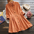 Spring Women Turn Down Collar Temperament Solid Color Knit Cardigan Long Sleeved Button Cute Kawaii Female Dress Mori Girl U627