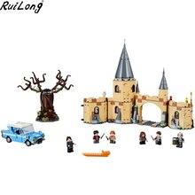 Новый 843 шт. Хогвартс Whomping Willow Совместимость Legoing Гарри Поттер 75953 строительные блоки кирпичи игрушки детям подарки на Рождество