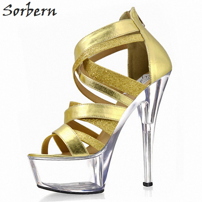 Sorbern Chinese Women Shoes Size 43 High Heels Sandals Goth Shoes Summer Sandals Women Shoes Platform Heels Custom Colors sorbern blue and white strips women sandals wedge high heels sandals shoes ladies comfortable platform heels chinese size 34 47