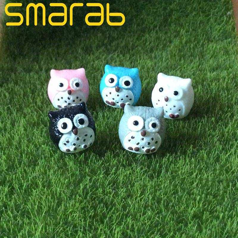 5pcs Miniature Garden Accessories Artificial Owl Bonsai Home and Garden Decoration Mini Micro Landscaping Decor