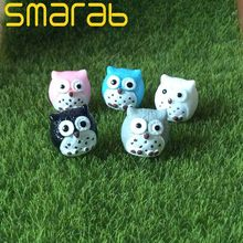 5pcs Miniature Garden Accessories Artificial Owl Bonsai Home and Garden Decoration Mini Micro Landscaping Decor(China)