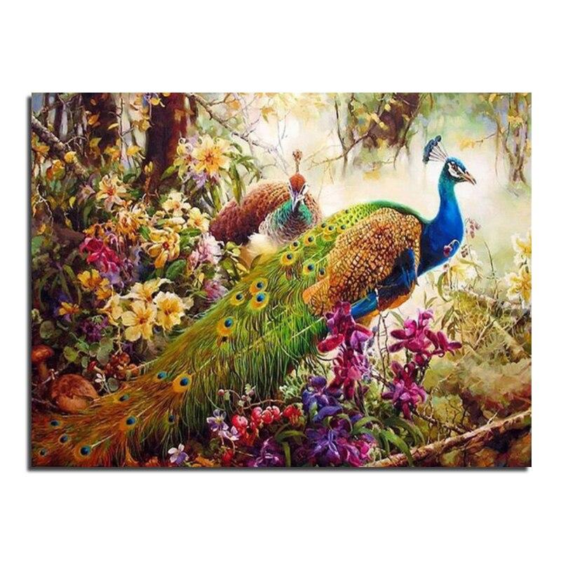 DIY Diamond Embroidery Peacock 80x60 5D Diamond Painting Cross Stitch Mosaic Pattern Full Square Rhinestone Home Decor