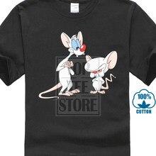 7dea3469ba0 Venta caliente de la camiseta Pinky y el cerebro ratones de dibujos  animados divertido tomar el
