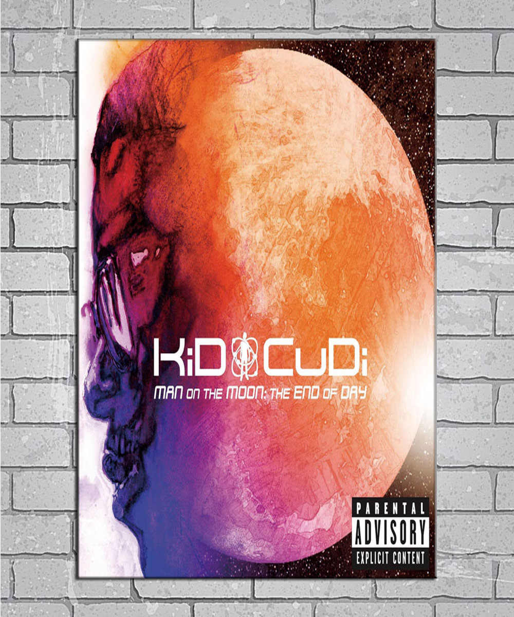 Reprint For Kid Cudi Man on the Moon Art Poster HD Print Wall Decor Multi Sizes