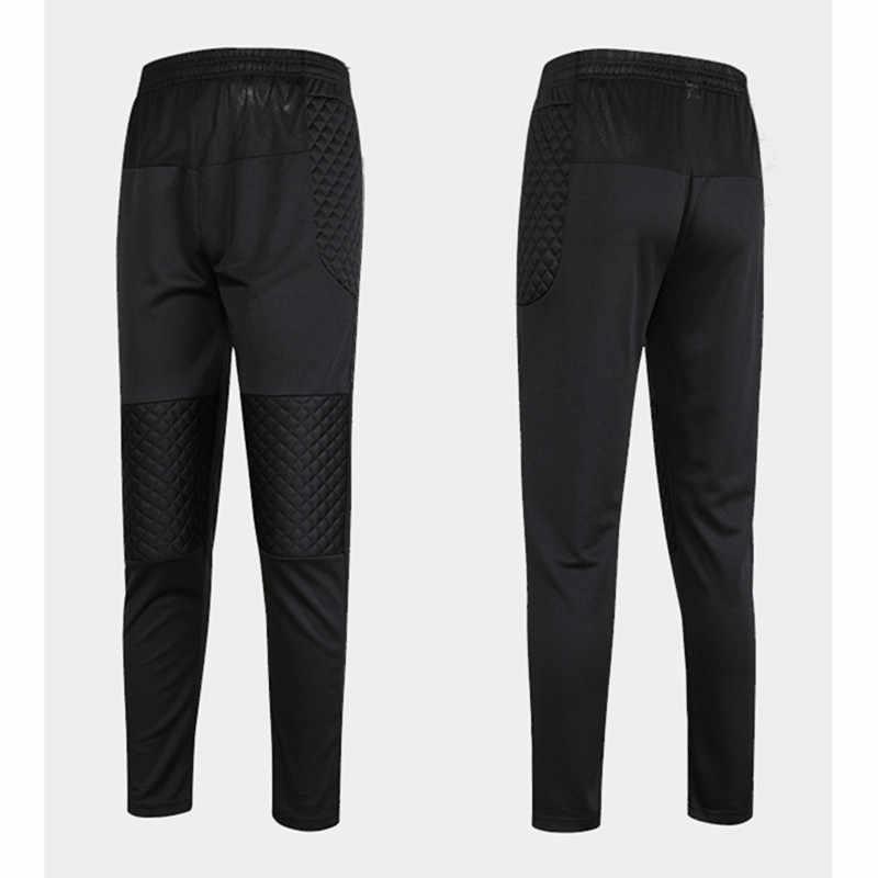 2018 профессиональные футбольные брюки вратаря для мальчиков, Детские губчатые тонкие обтягивающие футбольные штаны, спортивные тренировочные штаны для вратаря