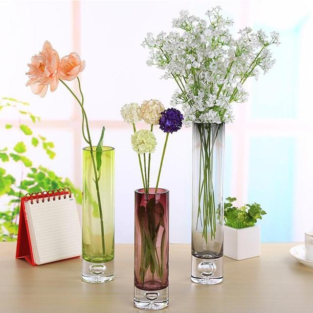 4 Colour Glass Vase Tower Vase For Home Decoration Photo Prop