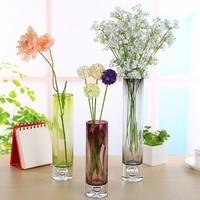 4 colour Glass Vase Tower Vase For Home Decoration Photo Prop Vintage Glass Bottle Green Plant Glass Flower Vases decorative