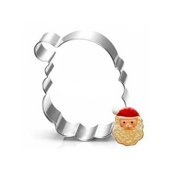 Santa Claus galletas sello herramientas para cortar galletas juguete panadería cocina Gadgets venta acero inoxidable mercado chino en línea