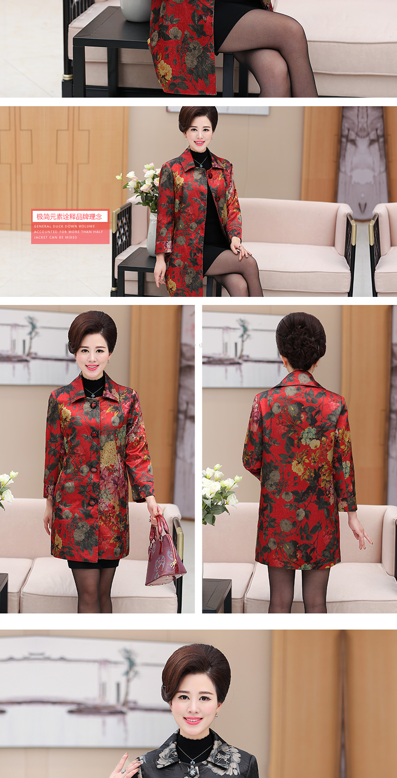 Chinese Women\'s Elegant Floral Trench Coats Single-breasted Duster Coat Matrue Woman Office Outfit Mandeau Femme Overcoats 2017 (6)