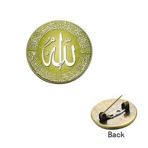 Image 5 - Классические разноцветные Броши SONGDA в виде искусственных элементов, булавки, значок в виде религиозной мусли бронзового/серебряного цвета, счастливое ювелирное изделие