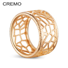 Cremo Lace Cuff Ring Minimalist Hollow Copper Giraffe Rings Lead-free Exquisit Comtemporary Knuckle Valentines Day Gift