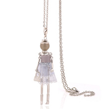 charm yarn cloth dress doll necklace fashion necklaces for women big choker stores christmas pendants jewelry long chain