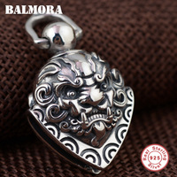 BALMORA 100 Real 925 Sterling Silver Hyperbole Pendants For Men Gift Vintage Jewelry Bell Accessories Without