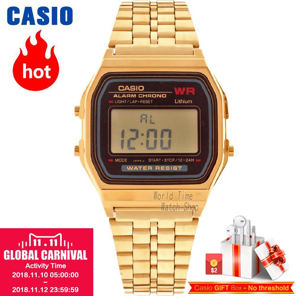 Casio montre Analogique Hommes de Quartz Montre de Sport Tendance rétro petite montre en or